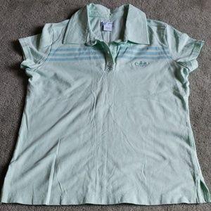 Adidas Sz L mint green polo shirt
